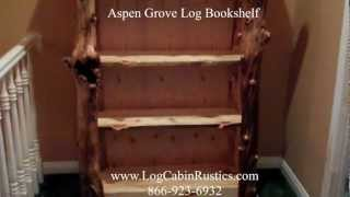Rustic Bookshelf - Aspen Bookcase - Log Bookshelf