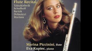 Marina Piccinini - O. Taktakishvili: Sonata for Flute and Piano / 2. Aria: Moderato con moto