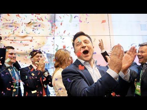 Comedian Zelenskiy Wins Ukrainian Presidency in Landslide