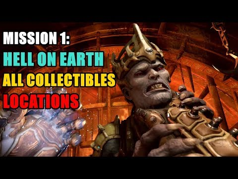 Hell On Earth All Collectibles (Modbots, Codex, Toys, Cheat Codes, Extra Lifes) DOOM Eternal