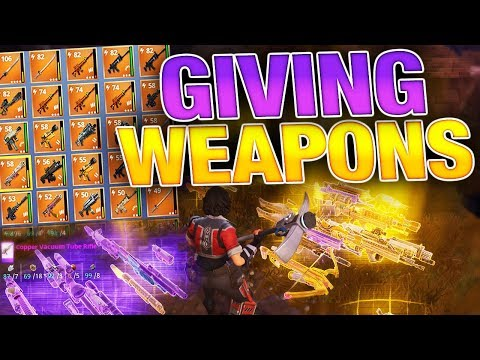 Giving New Players my BEST Legendary Weapons! | Fortnite Save the World PVE