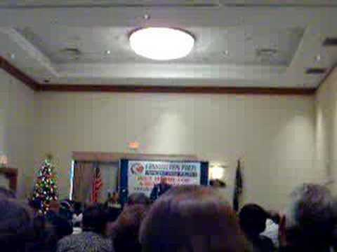 Howard Phillips Speaking at Constitution party Event