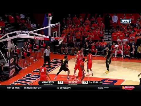 Jordan Murphy Rebound Dunk vs. Illinois
