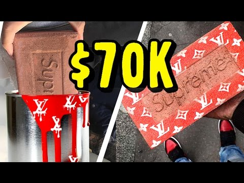 2b0f8a0ec3937 MAKING AND SELLING THE $70,000 NEW SUPREME LOUIS VUITTON BRICK! (NO  CLICKBAIT!)