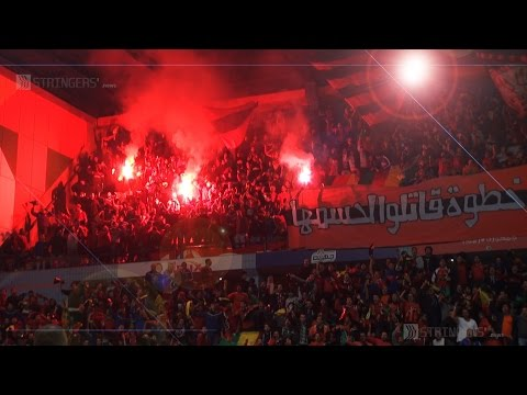 EGYPT    Ahly's Ultras protest barring spectator attendance by black flags and firecrackers
