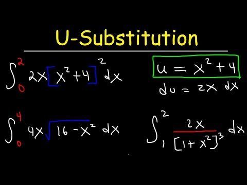 U-substitution With Definite Integrals