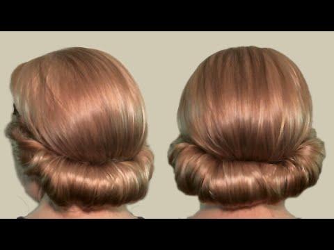 Прическа в греческом стиле: как сделать (видео). Greek-style hairstyle for medium hair.