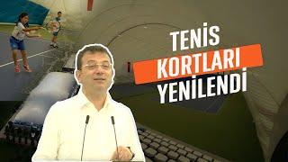 İBB Maltepe Orhangazi Şehir Parkı'ndaki tenis kortlarını yeniledi