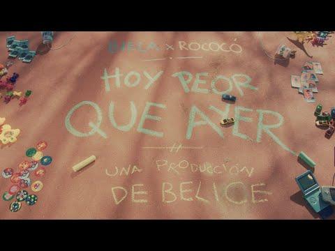 """BIELA x ROCOCÓ - """"hoy peor que ayer"""" (vídeoclip oficial)"""