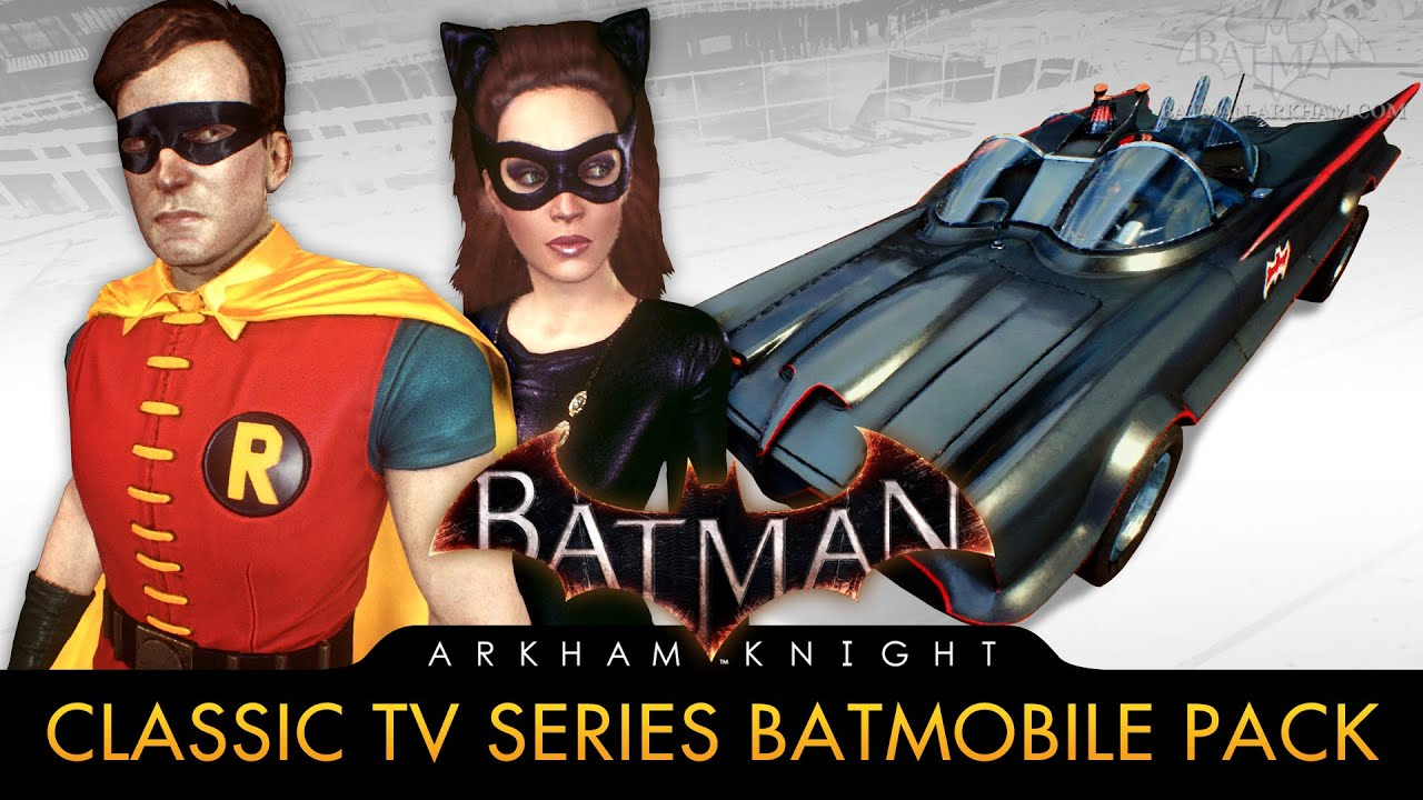 Batman: Arkham Knight - 1960s TV Series Batmobile Pack (Race Tracks & Free Roam Gameplay)