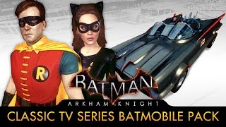 Batman: Arkham Knight - 1960s TV Series Batmobile Pack (Race Tracks & Free Roam Gameplay)