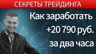 Как торговать на бирже? Онлайн торговля на бирже. +20790 руб за 2 ч - реальная торговля на бирже.