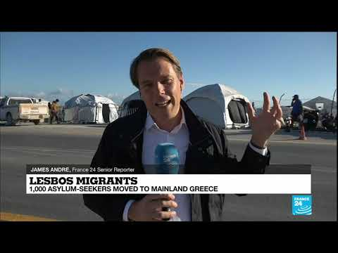 Asylum-seekers moved from Greek island to mainland
