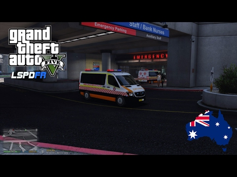 GTA 5 - LSPDFR Australia - Emergency 000 Ambulance Patrol (GTA 5 Play As A Paramedic mod for PC)