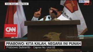 Prabowo: Kita Kalah, Negara Ini Punah