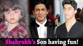 Shahrukh Son Aryan and  AbRam having fun - Bollywood Latest News