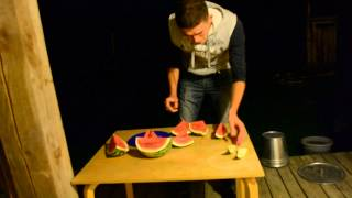 How to cut a Watermelon in 30 seconds part 2