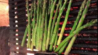 Wood-Fired Grilled Asparagus at Trezo Mare
