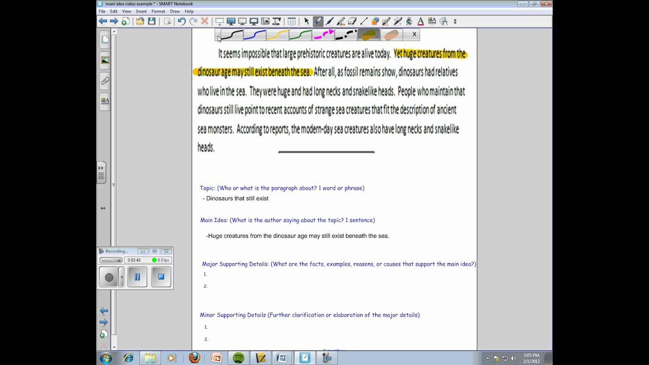 Finding the Main Idea in Paragraphs YouTube – Finding the Main Idea Worksheets