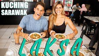 FIRST TIME EATING LAKSA in KUCHING SARAWAK (Kuching Malaysia Vlog)