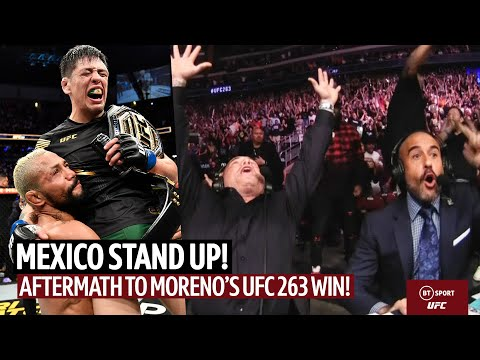 Incredible joy and respect! Aftermath of UFC 263 as Brandon Moreno becomes UFC champ!