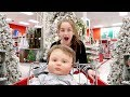 Shopping with Reborn Baby Dolls Simon and Olivia for Christmas and Haul