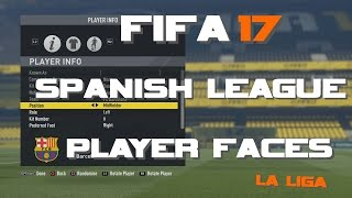Fifa 17 Player Faces - Spanish League (La Liga) | MSHAY Gaming