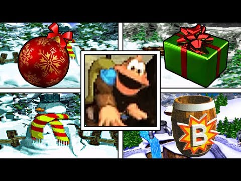 All CHRISTMAS THEME BONUS GAMES In Donkey Kong Country 3 With YOUR CHRISTMAS GREETINGS!