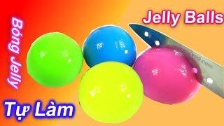 Cách Làm Những Quả Bóng Sắc Màu Bằng Jelly Rau Câu /  Bé Học Màu Sắc/ How To Make Jelly Balls
