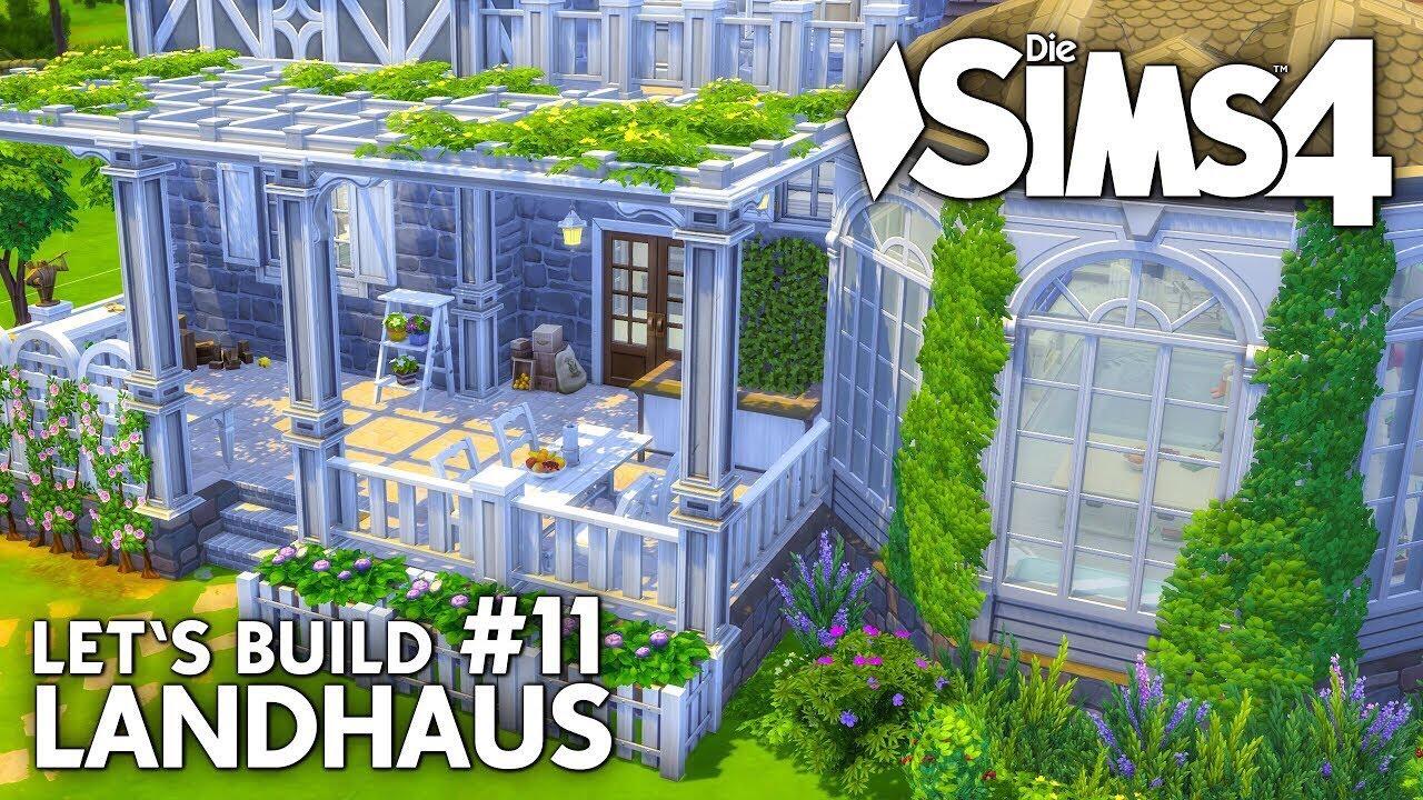 Landhaus #11: Schlafzimmer & Terrasse (deutsch) | Die Sims 4 Haus ...