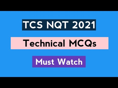 TCS NQT 2021 | Technical MCQs (Solved) | Latest Questions | The Coding Bytes
