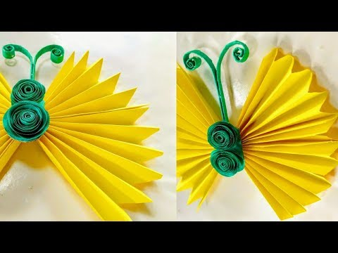 How  to make a butterfly with paper!!  Paper Arts