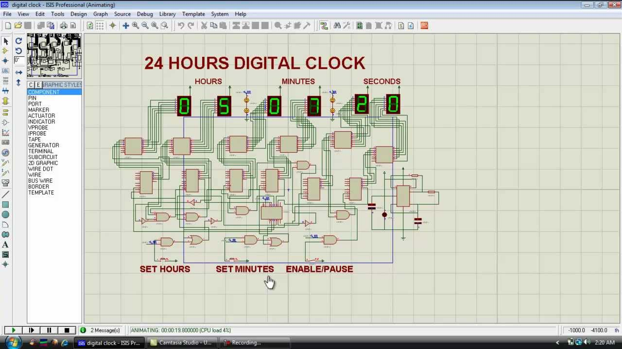 Digital Clock Design Dld Youtube