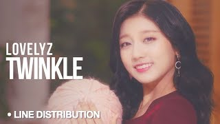 LOVELYZ (러블리즈) - Twinkle (종소리) : Line Distribution (Color Coded)