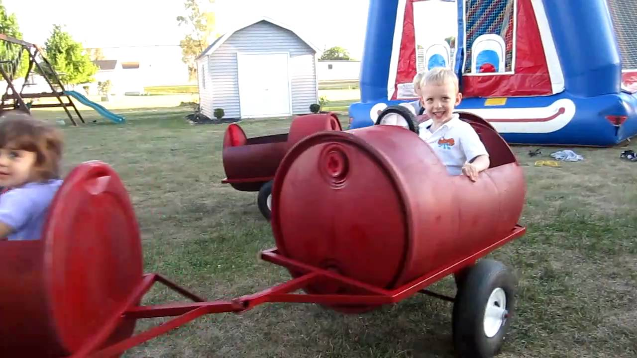 Homemade Plastic Barrel Train Youtube