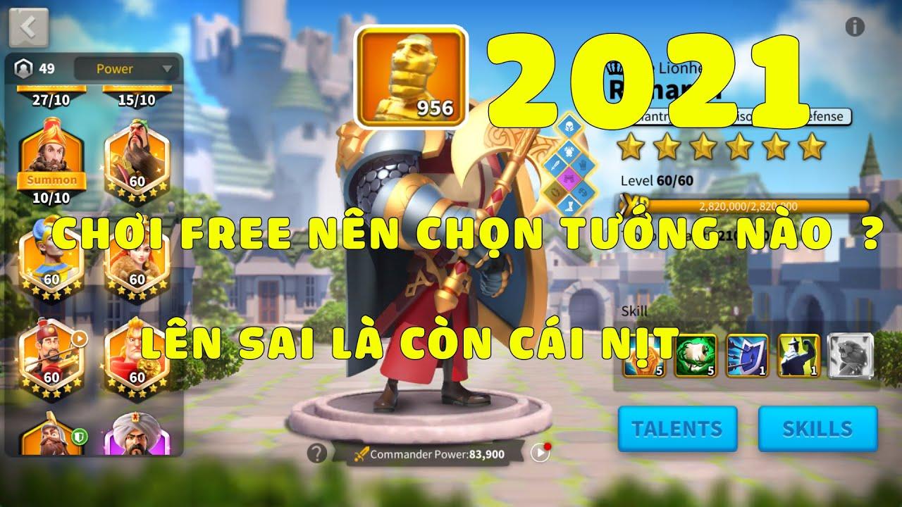 Chọn tướng cam Rise of kingdoms cho người chơi mới free 2021 | Tất tần tật các tài liệu liên quan các cặp tướng mạnh trong rise of kingdom chính xác nhất