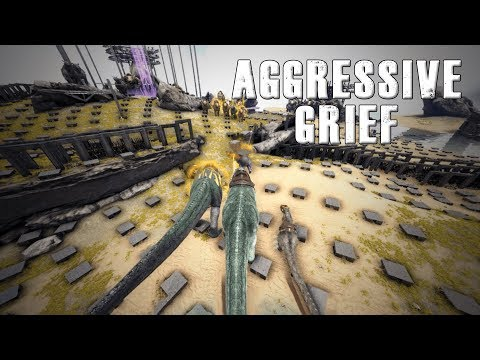 Aggressive Griefing Server 30 | ARK Small Tribes!!!