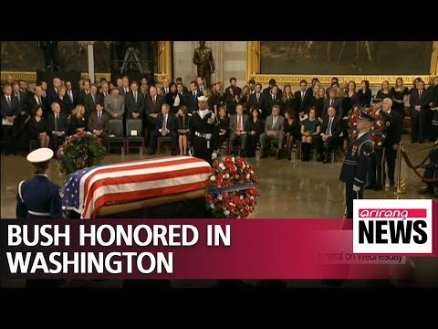George H.W. Bush honored in Washington before state funeral on Wednesday