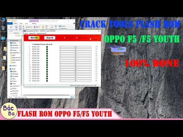 How To Crack Tools MsmDownloadTool Flash Rom OPPO F5/F5 Youth 100% Done -  YoutubeDownload pro