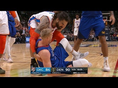 Steven Adams SAVES Mason Plumlee's Life - Thunder vs Nuggets | Dec 14, 2018 | 2018-19 NBA Season