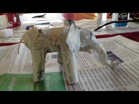 Paper Mache Elephant Progress