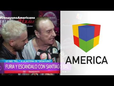 Santiago Bal se sacó con una cronista de Desayuno Americano y la insultó en cámara