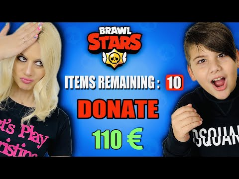 ΕΚΑΝΑ DONATE 110 EURO ΚΑΙ ΠΗΡΑ 10 ΝΕΟΥΣ BRAWLERS BRAWL STARS LET'S PLAY KRISTINA @Famous Games