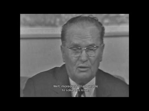 Josip Broz Tito - Ako nisam sposoban da rešim studentsko pitanje onda ne treba da budem predsednik!