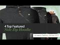 4 Top Featured Side Zip Hoodie Amazon Fashion, Winter 2017
