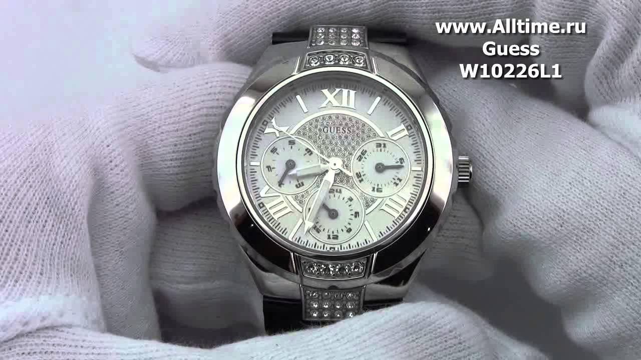 Женские наручные fashion часы Guess W10226L1 - YouTube 233cb63cba870