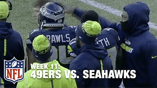 Thomas Rawls Goes 'Baby Beast' on 49ers, Gets Marshawn Lynch's Approval | 49ers vs. Seahawks | NFL