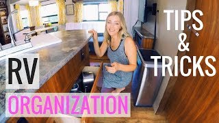 HOW TO ORGANIZE YΟUR RV KITCHEN & MAIN LIVING AREA - FULL TIME RV FAMILY OF 6!