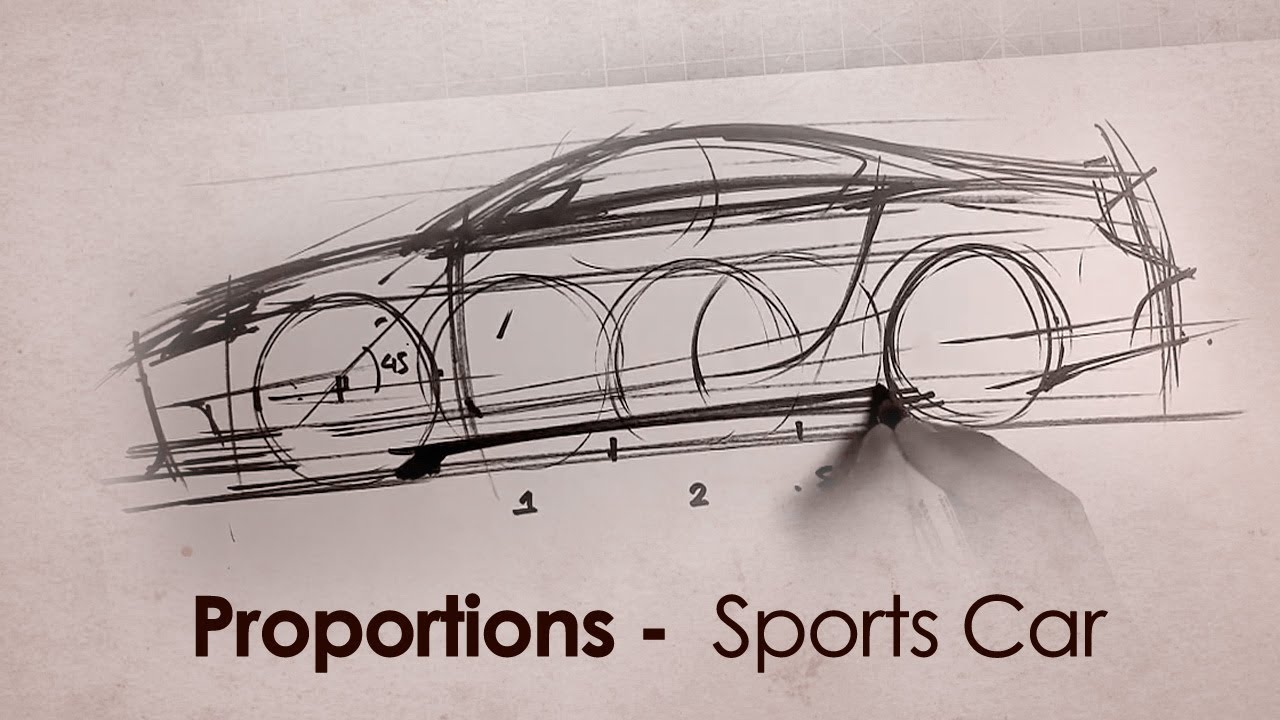 How to set up Proportions for a Sports Car Sketch