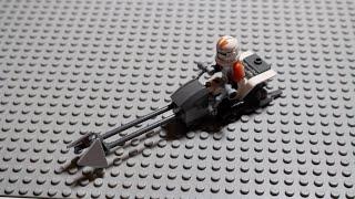 LEGO DEUTSCH Tutorial - Clone Wars Speederbike (MOC)